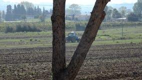 拖拉机土壤为播种做准备 股票视频