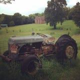 拖拉机在田纳西 库存图片