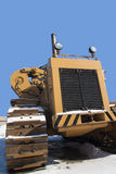 拖拉机在雪站立 图库摄影
