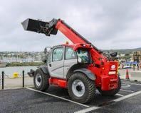 拖拉机挖掘机 免版税库存图片