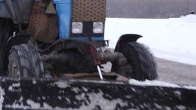 拖拉机清洁雪雪投掷器 股票录像