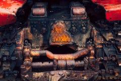 从拖拉机的抽象构成 库存照片