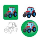 拖拉机象在白色背景的 免版税库存图片