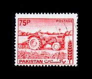 拖拉机,农业serie,大约1978年 免版税库存图片