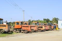 拖拉机 种植播种机弹簧的农业机械 免版税库存图片
