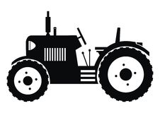 拖拉机-黑色 库存照片