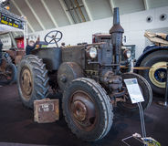 拖拉机Lanz牛头犬D7511 (两冲程,热电灯泡引擎),制造由海因里奇AG Lanz在曼海姆, 1935年 库存图片