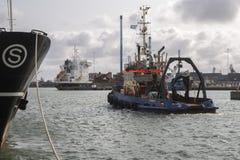 拖曳 Thyboron,日德兰,丹麦 库存图片