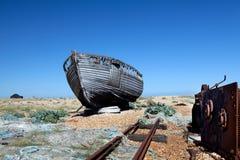 拖网渔船渔船击毁流浪汉 库存照片