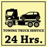 拖车传染媒介象和24 Hrs 免版税库存图片
