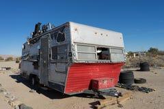 拖车在平板城市加利福尼亚 免版税库存照片
