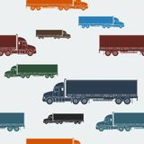 拖车无缝的样式 免版税库存照片