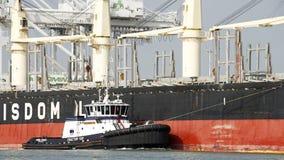 拖轮散装货轮BUNUN一点弓的AHBRA佛朗哥  库存图片