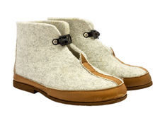 拖鞋温暖羊毛 免版税图库摄影