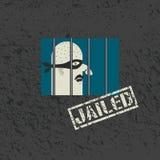 拘捕和拘留 库存例证
