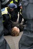 拘捕警察 库存照片