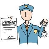 拘捕证 向量例证