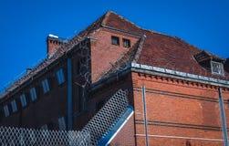 拘留大厦在希维诺乌伊希切 免版税库存图片