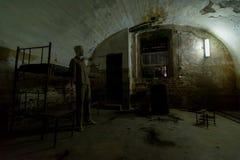 拘留,堡垒13 Jilava监狱,罗马尼亚 免版税库存图片