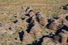 拙劣的工作拙劣的工作的鸟瞰图,澳大利亚西部 免版税库存图片