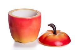 葡萄酒五十年代苹果形状的冰桶 免版税图库摄影
