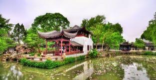 拙政园,最大的庭院在苏州 免版税库存图片