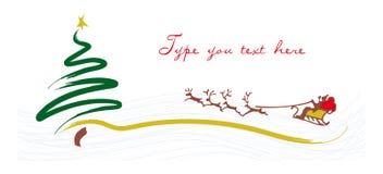 招呼看板卡的圣诞节他的圣诞老人雪&# 库存图片