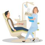 招待会的患者在牙医办公室 免版税库存图片