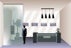 招待室的形象化有总台的 图库摄影