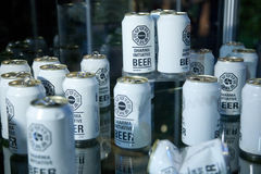招标丢失的啤酒dharma 图库摄影