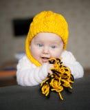 招标的俏丽的婴孩 库存照片