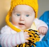 招标的俏丽的婴孩 免版税库存照片