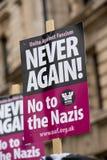 招贴-抗议游行-伦敦 免版税库存照片