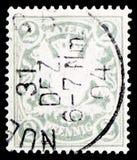 拜仁徽章Wm4,巴伐利亚serie,大约1900年 库存照片