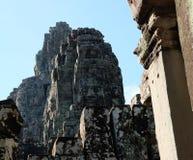 拜伦巨大的古庙在柬埔寨 中世纪寺庙在印度支那 古老文明建筑艺术  免版税库存照片