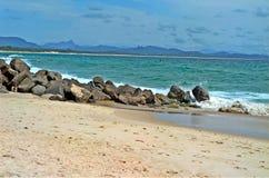 拜伦海湾海滩 库存图片