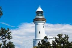拜伦海湾灯塔, NSW,澳大利亚 库存图片