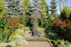 崇拜十字架在Zverin修道院里 库存照片