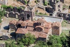 拜占庭式的修道院mystras peribletos 免版税库存图片