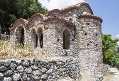 拜占庭式的修道院mystras peribletos 免版税图库摄影