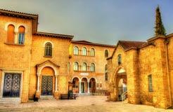 拜占庭式的博物馆和大主教Palace在尼科西亚 免版税库存照片