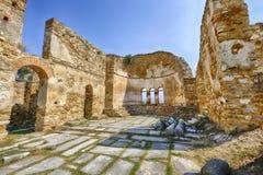 拜占庭式的教会希腊prespes废墟 库存图片