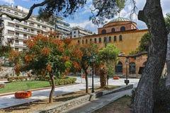 拜占庭式的正统圣索非亚大教堂大教堂在市的中心塞萨罗尼基 库存照片