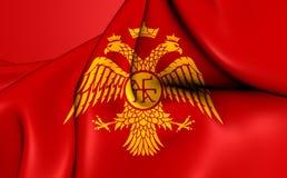 拜占庭式的老鹰, Palaiologos朝代旗子  免版税库存图片