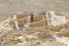 拜占庭式的议院在古老的Avdat, Nabatean市 库存图片