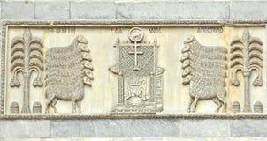拜占庭式的雕塑 免版税库存照片