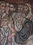 拜占庭式的马赛克在达夫尼修道院,雅典,希腊 免版税库存图片