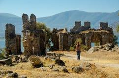 拜占庭式的Heraclea, Bafa湖,土耳其 免版税库存照片