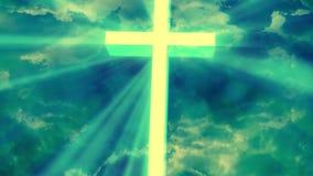 崇拜宗教上帝发出光线1 Loopable背景 库存例证
