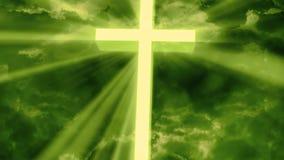崇拜宗教上帝发出光线2 Loopable背景 向量例证